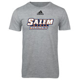 Adidas Sport Grey Logo T Shirt-Salem State Vikings Word Mark