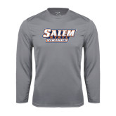Syntrel Performance Steel Longsleeve Shirt-Salem State Vikings Word Mark