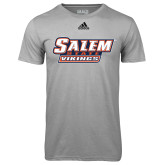 Adidas Climalite Sport Grey Ultimate Performance Tee-Salem State Vikings Word Mark
