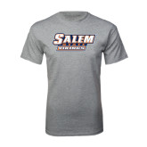 Grey T Shirt-Salem State Vikings Word Mark