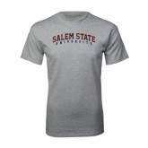 Grey T Shirt-Salem State University Arched