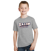 Youth Grey T-Shirt-Salem State Vikings Word Mark