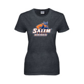 Ladies Dark Heather T Shirt-Primary Logo