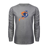 Grey Long Sleeve T Shirt-Viking
