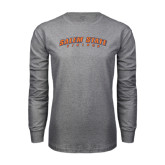 Grey Long Sleeve T Shirt-Salem State Vikings Arched