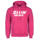 Fuchsia Fleece Hoodie-Salem State Vikings Word Mark