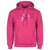 Fuchsia Fleece Hoodie-Salem State Vikings Word Mark Foil