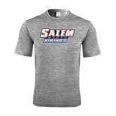 Performance Grey Heather Contender Tee-Salem State Vikings Word Mark
