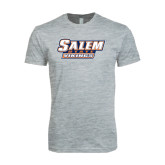 Next Level SoftStyle Heather Grey T Shirt-Salem State Vikings Word Mark