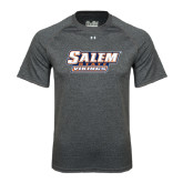 Under Armour Carbon Heather Tech Tee-Salem State Vikings Word Mark