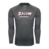 Under Armour Carbon Heather Long Sleeve Tech Tee-Salem State Vikings Word Mark