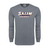 Charcoal Long Sleeve T Shirt-Salem State Vikings Word Mark