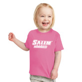 Toddler Fuchsia T Shirt-Salem State Vikings Word Mark