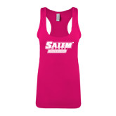 Next Level Ladies Raspberry Ideal Racerback Tank-Salem State Vikings Word Mark