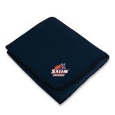 Navy Arctic Fleece Blanket-Primary Logo