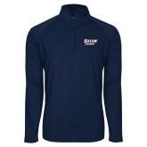 Sport Wick Stretch Navy 1/2 Zip Pullover-Salem State Vikings Word Mark
