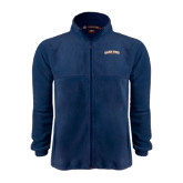 Fleece Full Zip Navy Jacket-Salem State University Arched