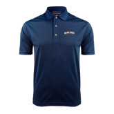 Navy Dry Mesh Polo-Salem State University Arched
