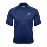 Navy Textured Saddle Shoulder Polo-Viking