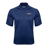Navy Textured Saddle Shoulder Polo-Salem State University Arched