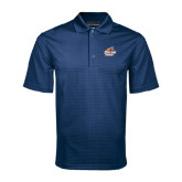 Navy Mini Stripe Polo-Primary Logo
