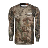Realtree Camo Long Sleeve T Shirt w/Pocket-Salem State Vikings Word Mark