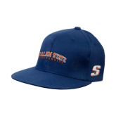 Navy OttoFlex Flat Bill Pro Style Hat-Salem State University Arched