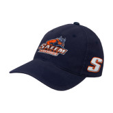 Navy OttoFlex Unstructured Low Profile Hat-Primary Logo