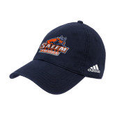 Adidas Navy Slouch Unstructured Low Profile Hat-Primary Logo