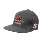 Charcoal Flexfit Flat Bill Pro Style Hat-Primary Logo