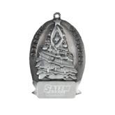 Pewter Tree Ornament-Salem State Vikings Word Mark Engraved