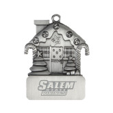 Pewter House Ornament-Salem State Vikings Word Mark Engraved