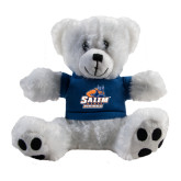 Plush Big Paw 8 1/2 inch White Bear w/Navy Shirt-Primary Logo