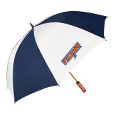 62 Inch Navy/White Umbrella-Slanted Vikings w/ Viking