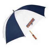 62 Inch Navy/White Umbrella-Slanted Vikings w/ Viking