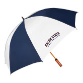 62 Inch Navy/White Umbrella-Salem State University Arched