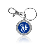 Crystal Studded Round Key Chain-Fighting Bee