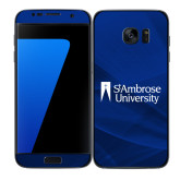 Samsung Galaxy S7 Edge Skin-Primary Mark, Background PMS 287 Blue