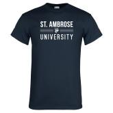 Navy T Shirt-St Ambrose