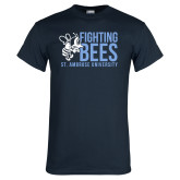 Navy T Shirt-Fighting Bees