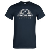 Navy T Shirt-Fighting Bees Soccer