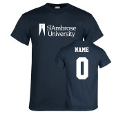 Navy T Shirt-Primary Mark, Custom Tee w/ Name and #s