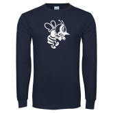 Navy Long Sleeve T Shirt-Fighting Bee