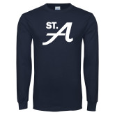 Navy Long Sleeve T Shirt-St A