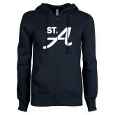 ENZA Ladies Navy Fleece Full Zip Hoodie-St A