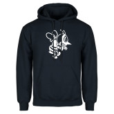 Navy Fleece Hoodie-Fighting Bee