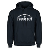 Navy Fleece Hoodie-Fighting Bees Football