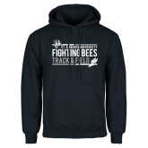 Navy Fleece Hoodie-Fighting Bees Track and Field