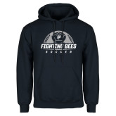 Navy Fleece Hoodie-Fighting Bees Soccer