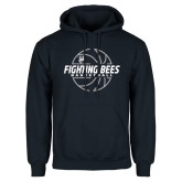 Navy Fleece Hoodie-Fighting Bees Basketball